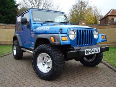 Jeep Wrangler 4.0 Sport TR2 2dr Estate Petrol Intense BlueJeep Wrangler 4.0 Sport TR2 2dr Estate Petrol Intense Blue at Jeep Wranglers Leighton Buzzard
