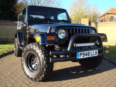 Jeep Wrangler 2.5 4.0 Sahara 2dr Four Wheel Drive Petrol BlackJeep Wrangler 2.5 4.0 Sahara 2dr Four Wheel Drive Petrol Black at Jeep Wranglers Leighton Buzzard