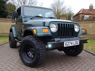 Jeep Wrangler 4.0 Sahara 2dr Auto Estate Petrol GreenJeep Wrangler 4.0 Sahara 2dr Auto Estate Petrol Green at Jeep Wranglers Leighton Buzzard