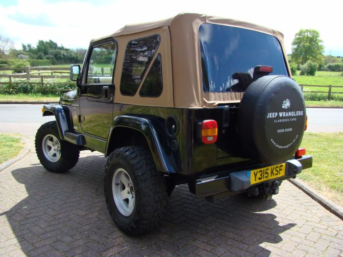 Jeep Wrangler 4.0L Sahara Soft Top Four Wheel Drive Petrol Black