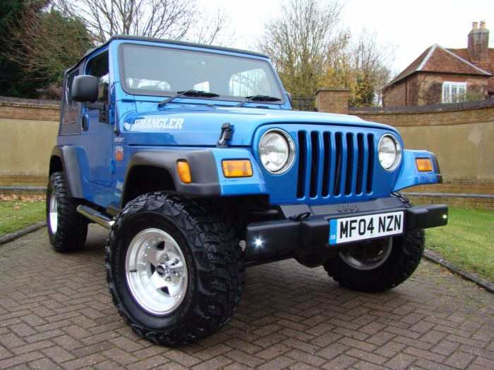 Jeep Wrangler 4.0 TR2 Soft Top Manual Four Wheel Drive Petrol Blue